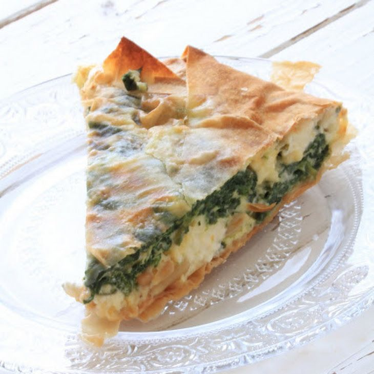 No Starch Meals Recipe Main Dishes with pinenuts, eggs, feta cheese, shredded cheddar cheese, oregano, lemon, olive oil, baby spinach, filo, nutmeg
