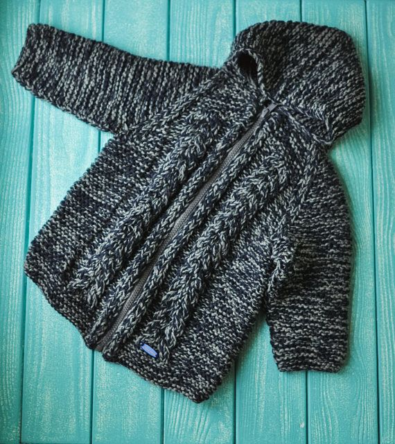 knitted jacket for baby handmade work very soft merino