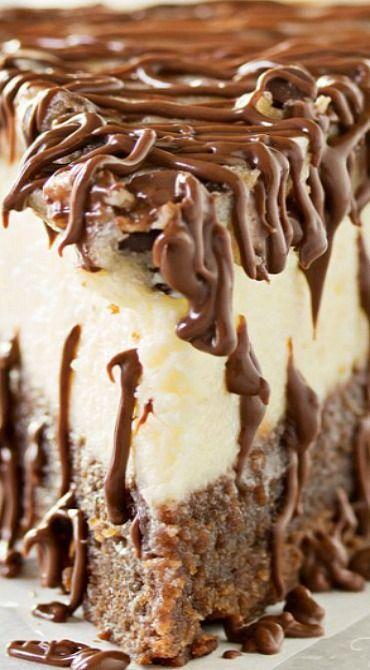 Brownie Bottom Cookie Dough Cheesecake