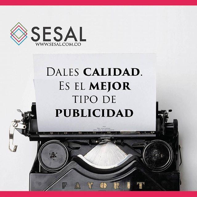 Dales calidad. Es el mejor tipo de publicidad Milton Hershey. #sesal #marketing #venezuela #colombia #españa #venezolanosencolombia #marketing #marketingdigital #creamostuempresa #emprende #ssl#salud #empresas #sisepuede