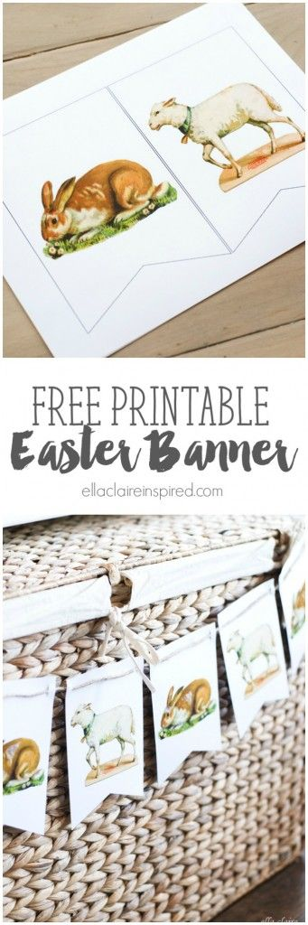 This adorable Free Printable Vintage Easter Bunny and Lamb Printable is so sweet and easy to put together! And get more great #freeprintables at https://www.pinterest.com/hre/