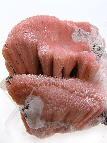 Kutnohorite is a rare calcium manganese carbonate mineral with magnesium, and a member of the dolomite group.  NChwaning II Mine, North Cape Province, South Africa