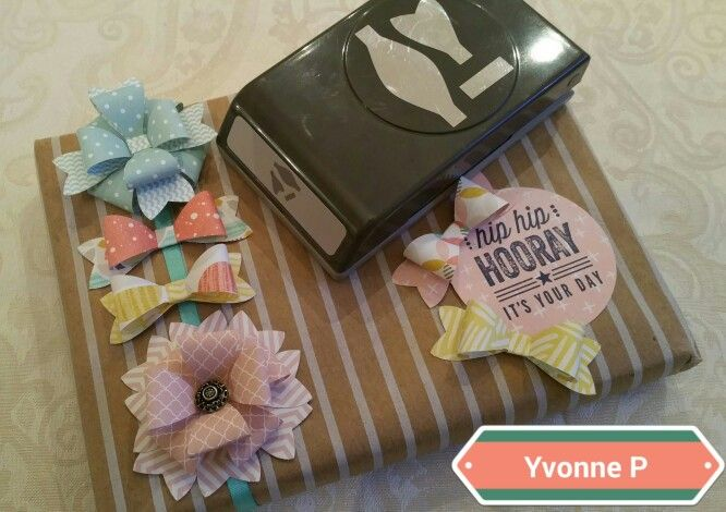 Stampin Up Bow Builder Punch.....endless possibilities! Awesome new item!! Yvonnepotterton@blogger.com