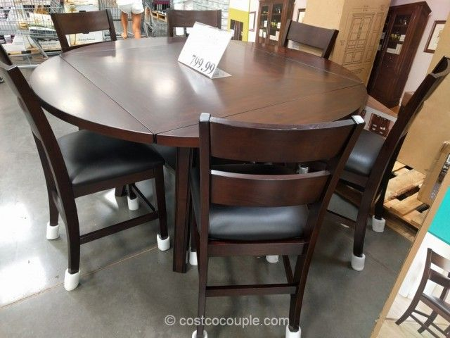 Bayside Furnishings 7-Piece Counter Height Round Dining Set Costco