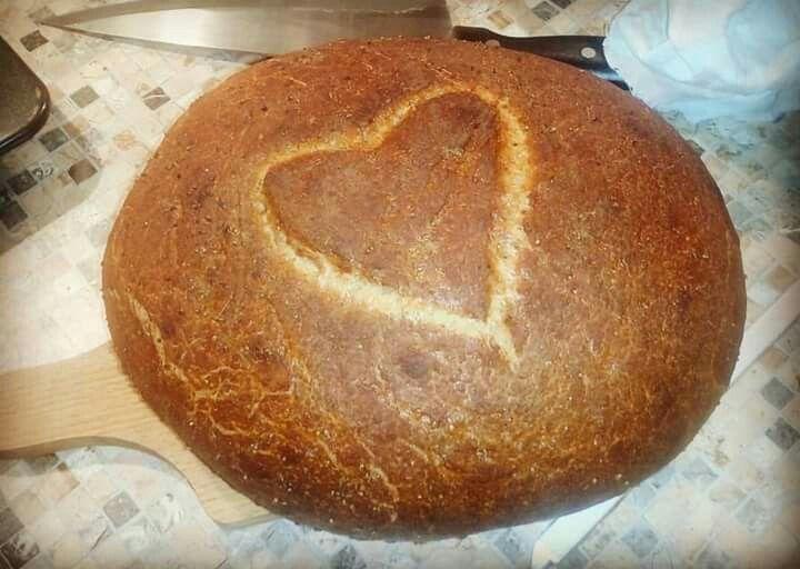 Môj kváskový chleba.  Milujem kváskovanie. <3