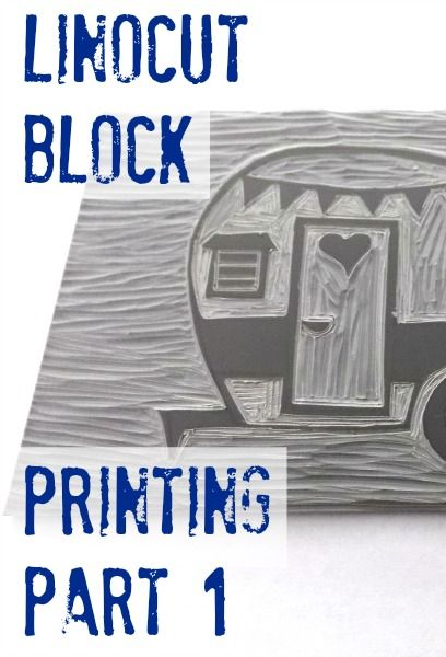 Trend Alert: Block Printing is Cool Again! Part 1 of the step by step process for linocut block printing.