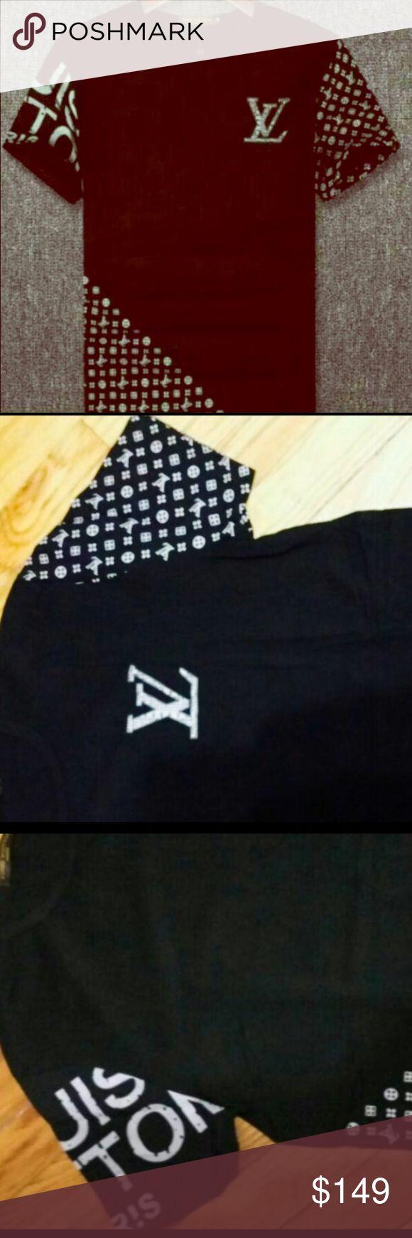 Mens Louis Vuitton T-shirt Mens LV Graphic T-Shirt NWT, Dint let it get away guy.. Louis Vuitton Shirts Tees - Short Sleeve