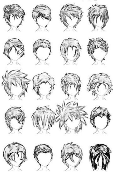 Como Dibujar Anime Estilo De Pelo De Hombres 1003 In 2020 Drawing Male Hair Anime Boy Hair Manga Hair