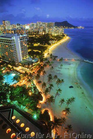 Am Strand, Waikiki, Oahu