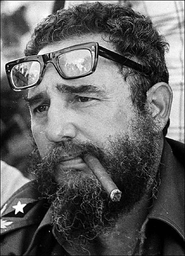 Fidel Castro the dictator with his beloved cigar.