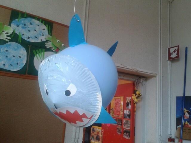 Haai met ballon/ balloonart shark