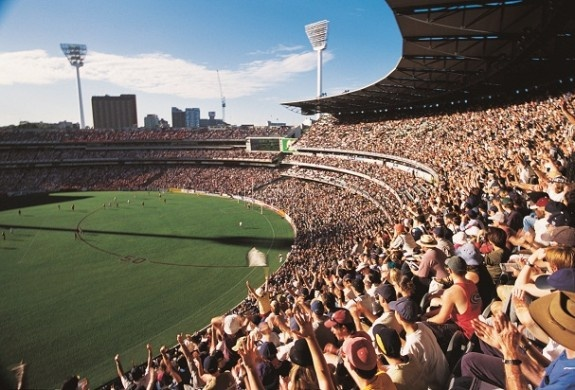 Footie at the Melbourne Cricket Ground  Melbourne, Australia