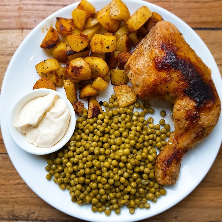Perfect gegrilde kippenpoot