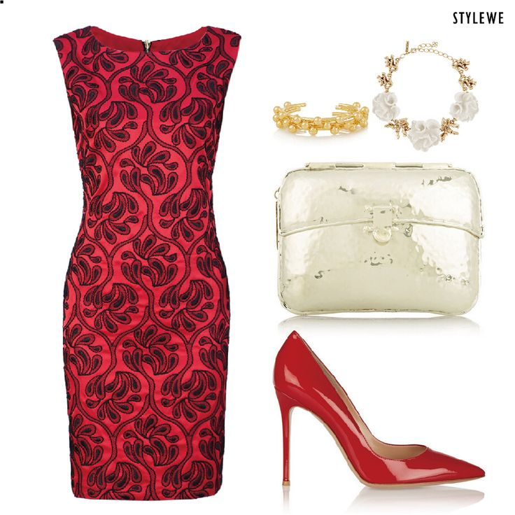 Red always show hot, right? #dress #fashoin #beauty #makeup #party