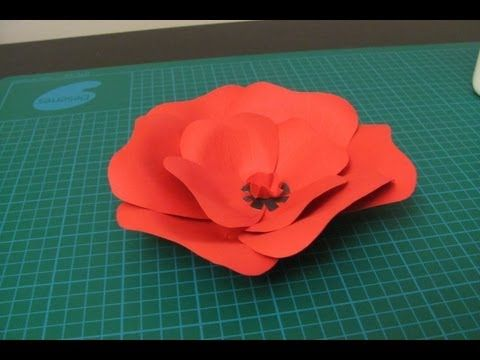 Remembrance Day Kids Poppy Craft - YouTube/ these would look pretty scattered on the tables I think