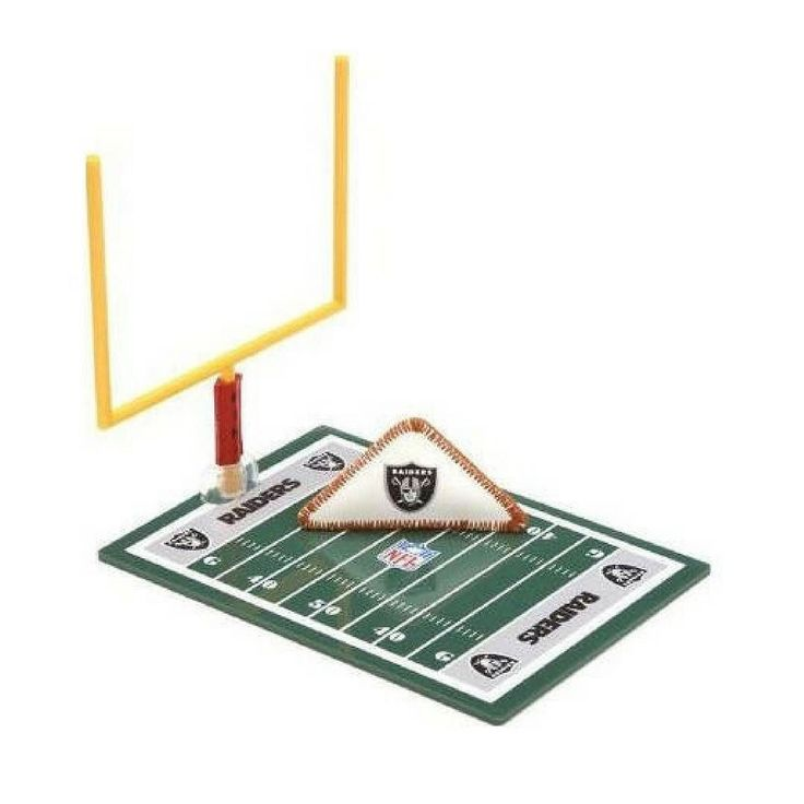 Score your own touchdowns during the #Raiders game today with this fiki football toy! #GoRaiders #Oakland