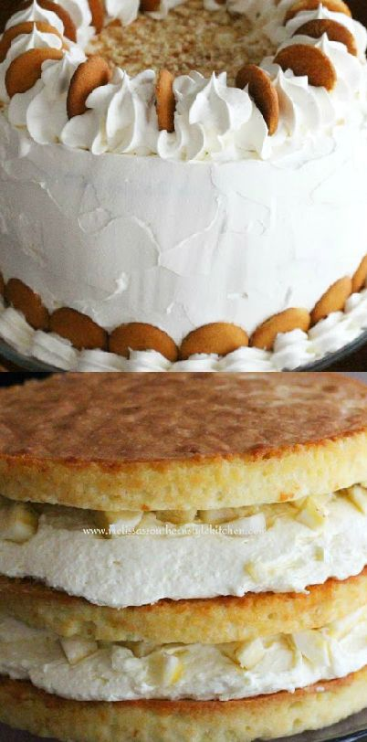 Banana Pudding Layer Cake ~ This cake is a show stopper and amazingly delicious!