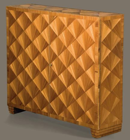 Emile Jacques Ruhlmann Cabinet In Walnut. Part Of The YSL Auction.