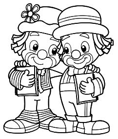 cute clowns coloring pages