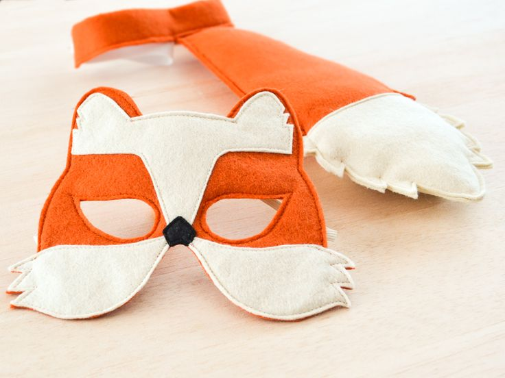 $30 == Fox costume. Kids fox mask and tail to turn it into a full fox costume for Halloween. Easy to put on fox costumes for toddlers and kids.