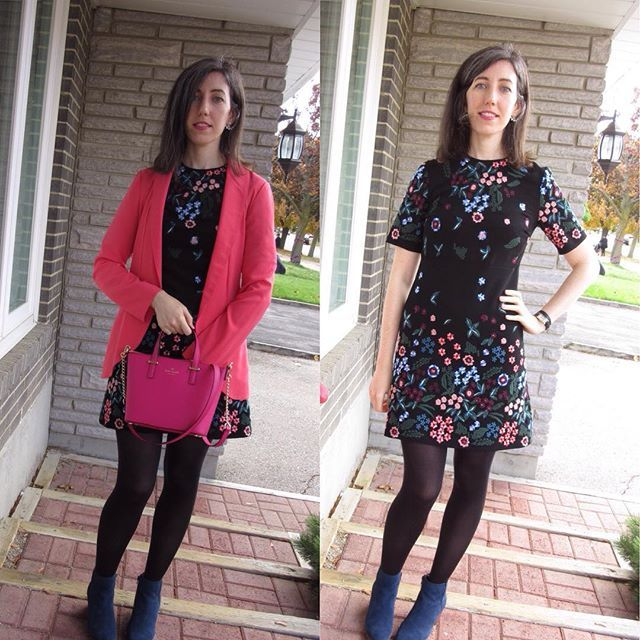 Today's outfit: this gorgeous embroidered @zara dress!!  #dynamitestyle #mystyle #styleblog #styleblogger #blogger #wiw#whatiwore #whatiworetoday #ootd #ootdshare #fall #fblog #fashion #fashionable #fashionblog #fashionista #fashionblogger #toronto #torontoblogger #skirteffect