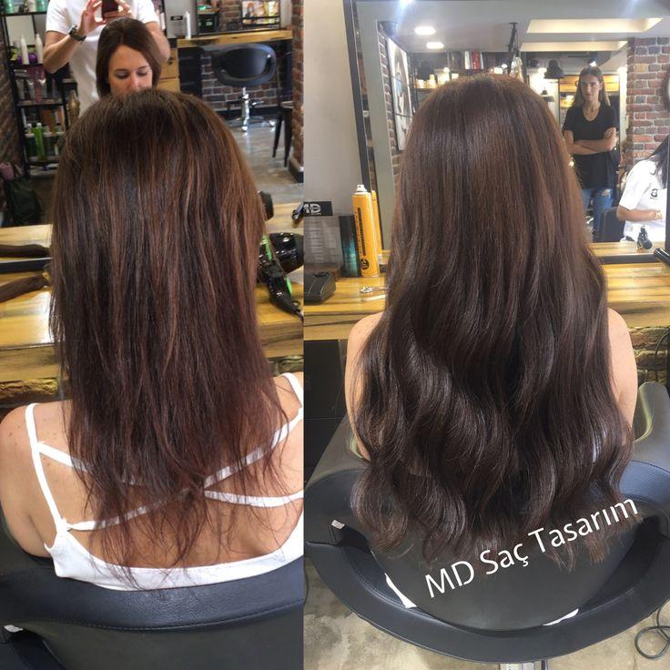 Daha dolgun ve ipeksi saçlar ✌️#mikrokaynak #mikrokeratinkaynak #keratinkaynak #izmir #kuaför #saç #trend #efsanesaclar #hair #hairvideo #hairvideodiary #hairvideodiarty #hairdesign #hairdresser #haircolor #hairart #love #lovehair #mdsactasarim @mdmetindemir