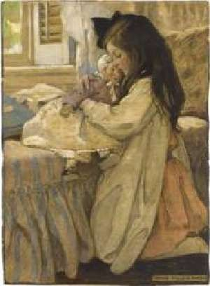 Jessie Willcox Smith (American 1863-1935), The Then Lover.
