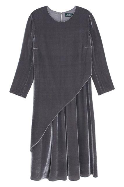Бархатное платье Alena Akhmadullina - Платье свободного кроя из коллекции российского бренда Alena Akhmadullina в интернет-магазине модной дизайнерской и брендовой одежды