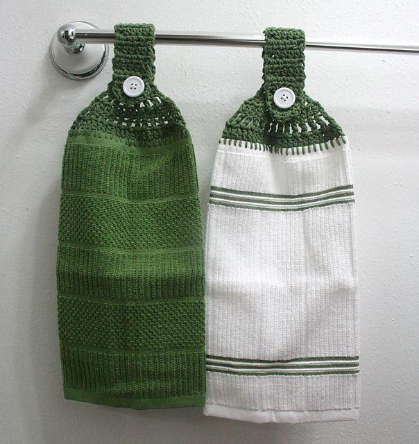 Crochet Towel Toppers And Potholders.Best Crochet Towel Topper ...