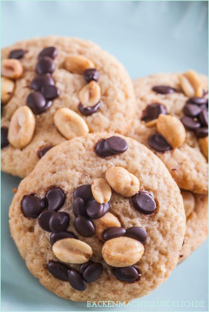 Superleckere weiche Peanut Butter Cookies: Erdnussbutter-Kekse | http://www.backenmachtgluecklich.de