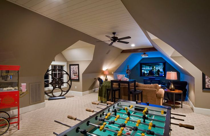 Best 25 attic game room ideas on pinterest for 13 a table theatre