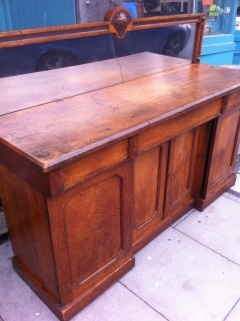Antique shop counter