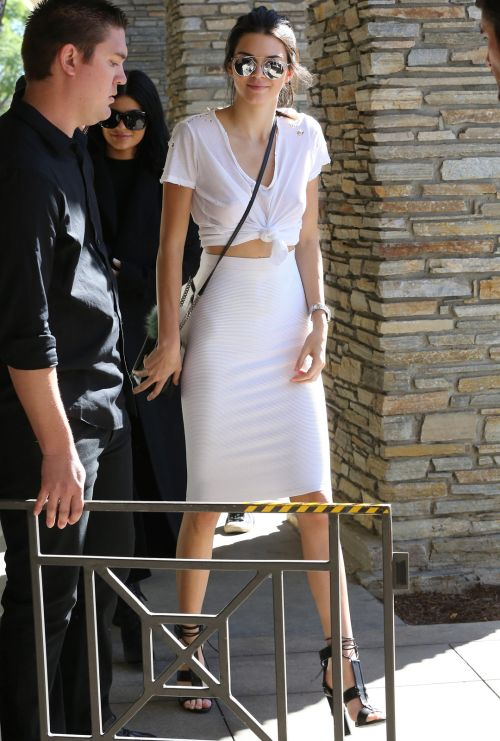 October 21, 2015 -  Arriving at Kim Kardashian's surprise birthday party in Thousand Oaks, CA.