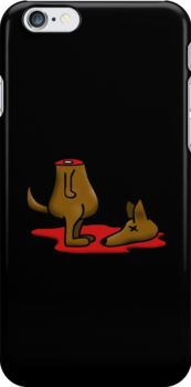 """Get this awesome """"Dead Dog (decapitated)"""" fun design on snap cases for your iphone."""