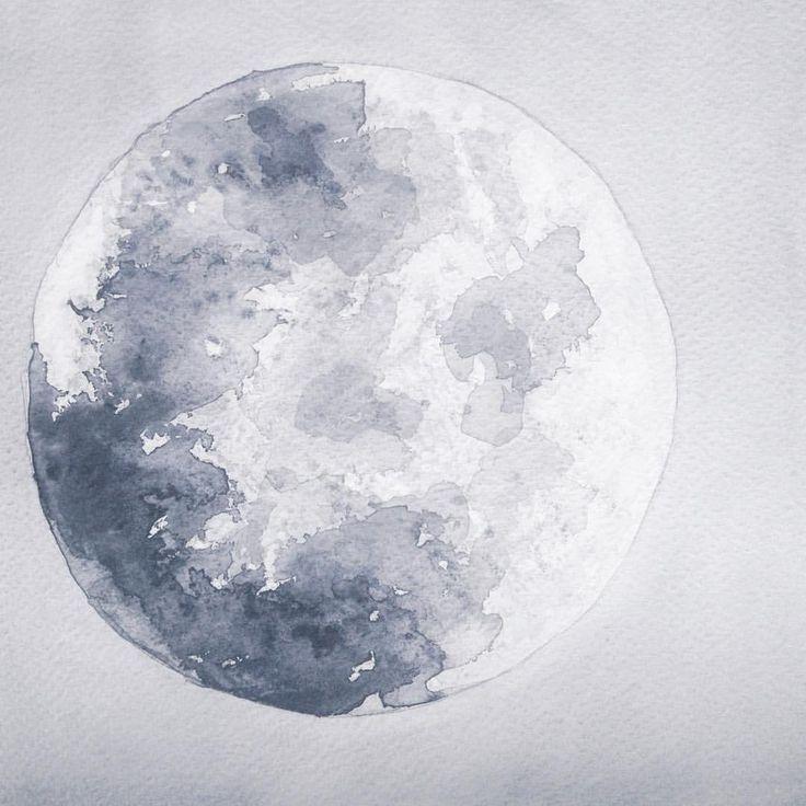Instagram @kimartinsartist  || Number 11 || 21cmx29,5cm watercolor ink in watercolor paper with 300g/m2 #watercolor #painting #art #moon #night #decoration #wall #kimartinsartist #color