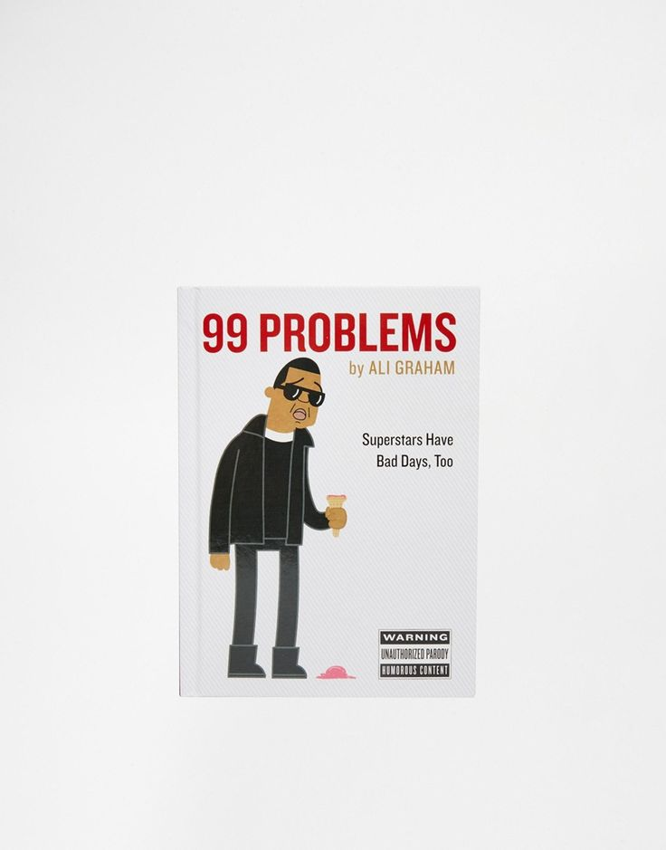"99 Problems par Ali Graham Livre relié Collection de 99 illustrations entièrement en couleurs Illustré d'un personnage reconnaissable Illustré par Ali Graham 208 pages H : 18 cm (7""). l : 13 cm (5""). P : 1,8 cm (0,7"")"