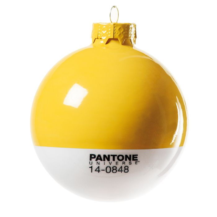 Pantone Holiday Ornaments. Love these!