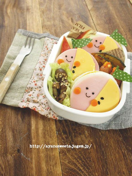Ham, Cheese and Egg Sandwich Bento by Ayano
