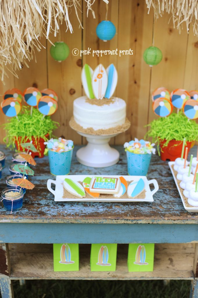 Entertain: Beach Party: Disney Teen Beach Movie Party - Entertain | Fun DIY Party Craft Ideas