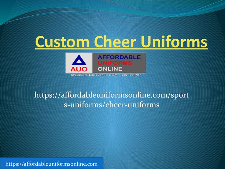 Custom cheer uniforms