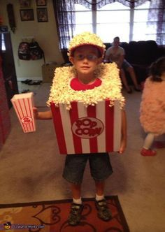 DIY Popcorn Costume - 2013 Halloween Costume Contest