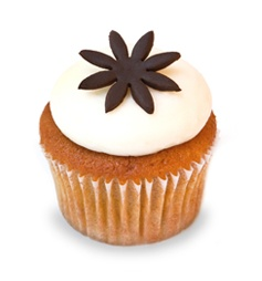Kara's Cupcakes, San Francisco, CA.  Rated as one of America's Best Cupcakes by Food & Wine.  Pumpkin Spice cupcake is a sweet favorite.