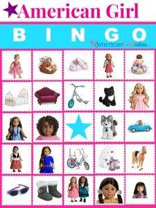 American Girl Bingo Printables