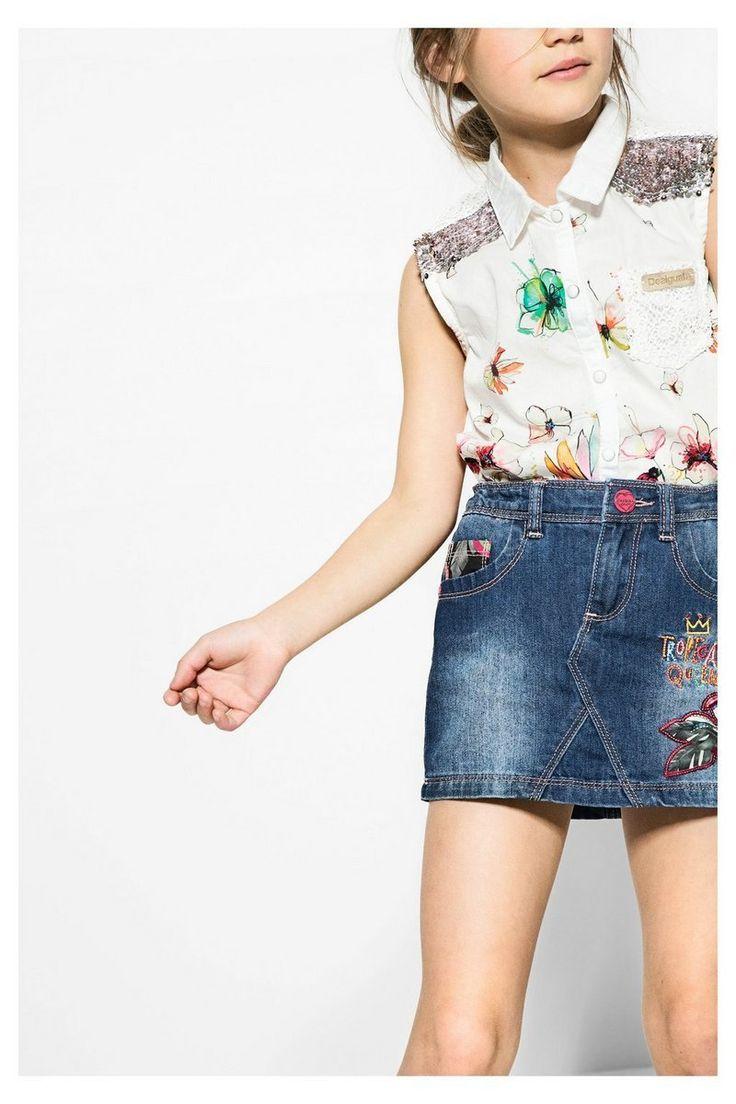 Falda Desigual vaquera Gargalla #circulogpr #desigual #fashion #modainfantil
