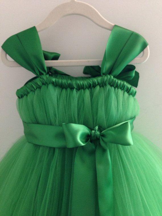 Emerald Green tutu dress NB 12 girls by HadandHarps on Etsy, $60.00 - so pretty for my little pumpkin pie!