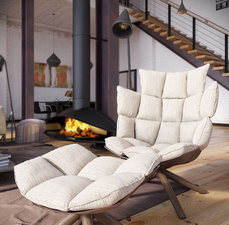 RIP3D-Industrial-Loft-deconstructed-quilted-eames-style-chair-in-open-plan-fireplace-living.jpeg 996×979 pixels