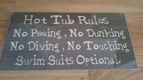 Hot Tub Rules Sign - Amour Decor - 2