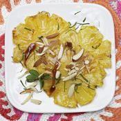 Ananas caramélisé à la menthe - une recette Fruit - Cuisine