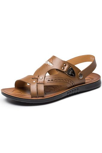 2016 Summer Fashion Men Sandals Shoes Breathable Leather Men Casual Shoes Beach …