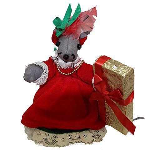 Vintage Christmas Decorations Mouse Carolers Set Jasco